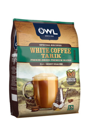White Coffee Tarik – FREEZE Dried Premium Blend – 3 in 1 Coconut Sugar Flavour – 25.50 Dirhams (15 Sachets)