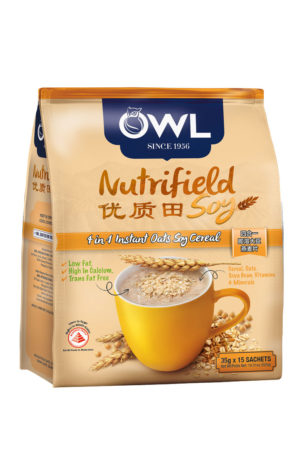 OWL Nutrifield Soy 4 in 1 Instant Oats Soy Cereal (35 gm x 15 Sachets) 525 gm 25 Dirhams