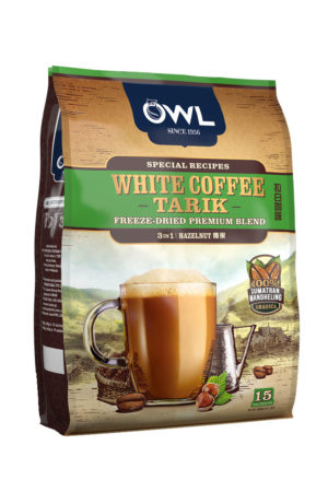 White Coffee Tarik – FREEZE Dried Premium Blend – 3 in 1 Hazelnut Flavor – 25 Dirhams (15 Sachets)