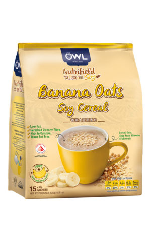 OWL Nutrifield Banana Oats Soy Cereal – Low Fat 525g