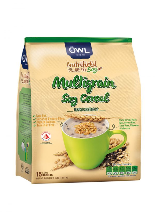 OWL Nutrifield Multigrain Soy Cereal Low Fat- 525g
