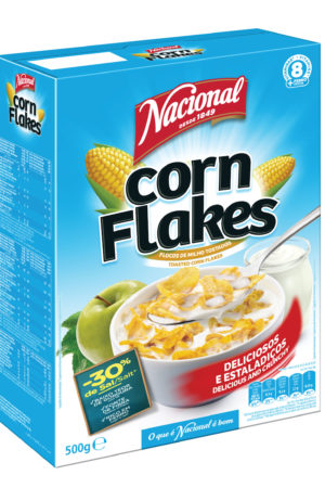 Nacional Corn Flakes 500gm Crunchy , Toasted Corn Flakes