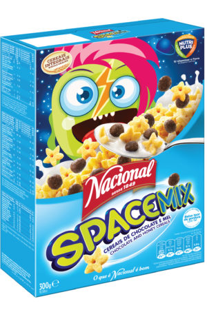 Nacional Space Mix Cereals 300gm Chocolate and Honey Cereals