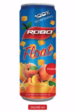 Robo Float Peach Juice – 240 ml (1 Tray x 24 cans)