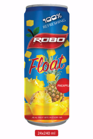 Robo Float Pineapple Juice – 240 ml (1 Tray x 24 cans)