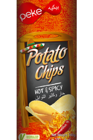 Peke Potato Chips HOT & Spicy 160g